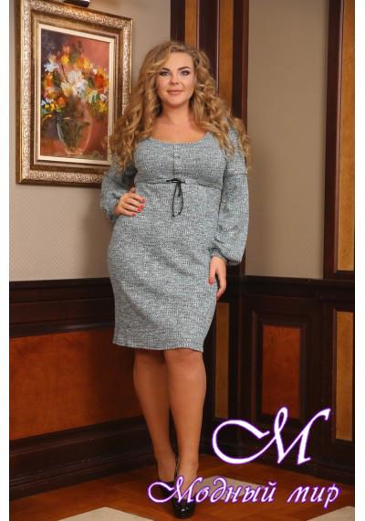 Женское теплое повседневное платье батал (р. 48-90) арт. Лика