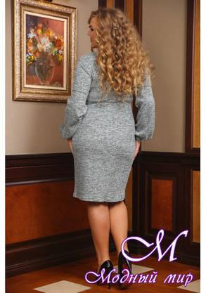 Женское теплое повседневное платье батал (р. 48-90) арт. Лика, фото 2