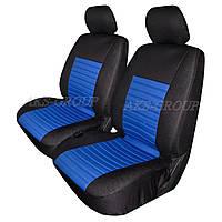 Авточехлы с подогревом Milex Arctic на передние сидения черно-голубые