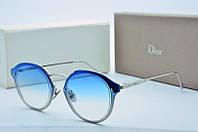 Женские солнцезащитные очки круглые Dior синие