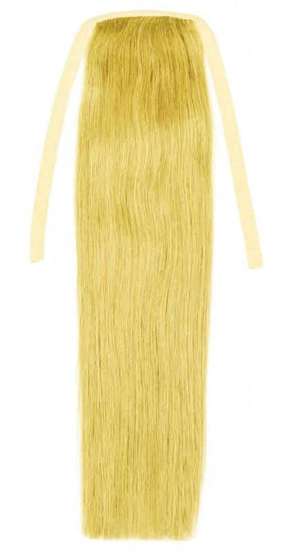 Натуральный накладной хвост 60 см, 120 грамм. Цвет #613 Блонд