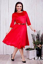 Женское бархатное платье Шик (46-60) 8216