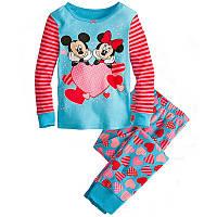 Пижама хлопковая для девочки 'Микки и Минни' 1-2 года