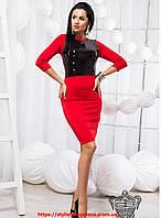 Облегающее платье с паетками 42, красный