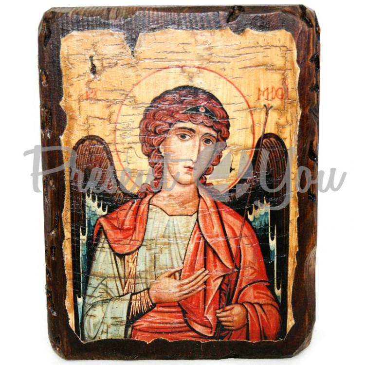 Деревянная икона Архангел Михаил, 17х13 см (814-1002)