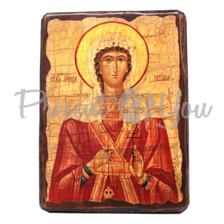 Деревянная икона Святая мученица Татьяна, 17х23 см (814-2040)