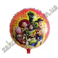 Фольгированные воздушные шары, форма:круг с рисунком герои мультфильма История игрушек(рисунок может немного о