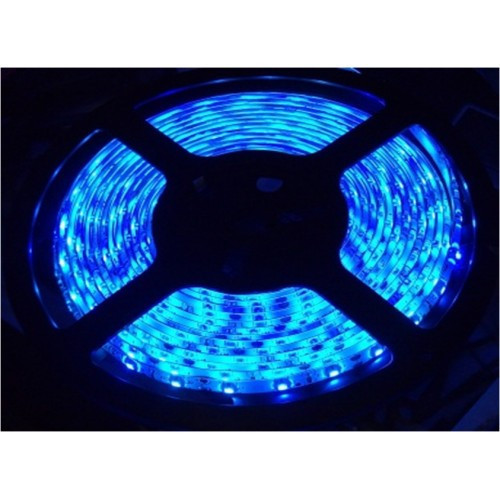Светодиодная лента 5м LED 3528 Blue 60RW в силиконом