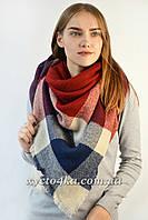 Большой платок Джерси, бордовый 140 см