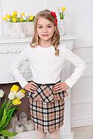 Нарядное платье для девочки комбинированное, фото 1
