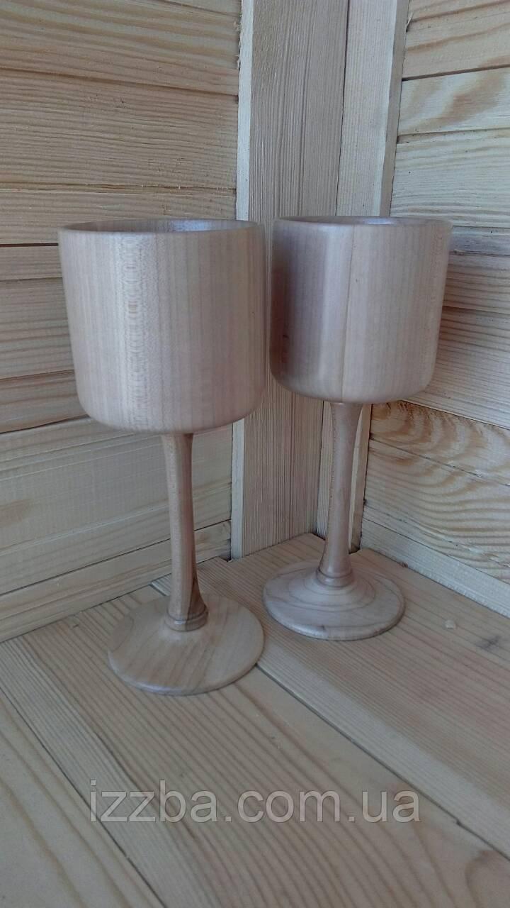 Бокалы деревянные