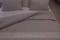Льняное постельное белье 160х220 полуторное с простыней  из белого льна