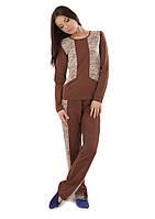 Красивая хлопковая женская пижама с кружевом