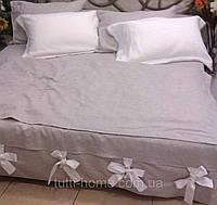 Льняное постельное белье 200х220 двуспальное евро