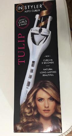 Стайлер для укладки волос Instyler Tulip Auto Curler код 4579 АКБ, фото 3