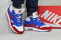 Зимние кроссовки Nike Air Max 90 ,синие с белым
