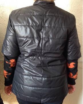 Куртка батал с коротким рукавом осень/весна Jenny. Тренд сезона. код 275, фото 2