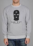 Свитшот BackCourt Маска Bad Way Grey