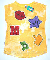 Детская одежда. Футболка 'Бабочка' для девочек 4,5,6,7,8 лет