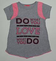 Детская одежда .Футболка для девочек 'LOVE' рост 104,110,116,122,128 см