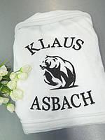 Белый мужской махровый халат «Медведь»