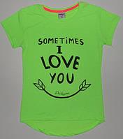 Туники для девочек'Sometimes i love you' 8,9,10,11,12 лет