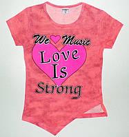 Туники для девочек'Love is' 8,9,10,11,12 лет