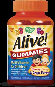 Nature's Way, Alive! Жевательные витамины для детей, 90 конфет.