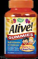 Nature's Way, Alive! Жевательные витамины для детей, 90 конфет. Срок: 03/18