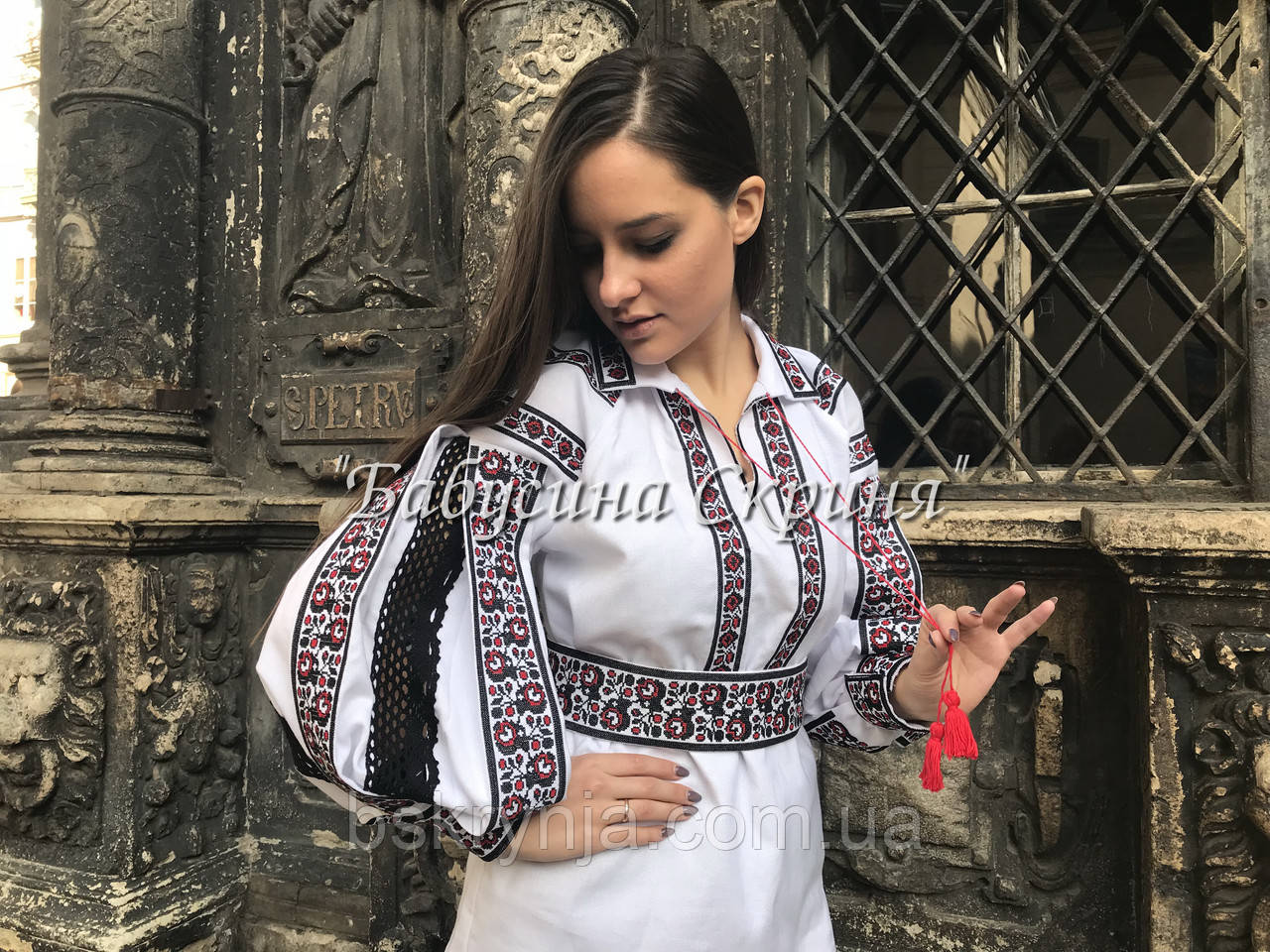 Заготівля жіночої сорочки для вишивки нитками/бісером БС-66