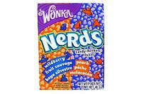 Конфеты Nerds дикая ягода и персик. Вилли Вонка (Willy Wonka). 46.7 грамм
