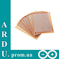 PCB 5x7 двухсторонняя печатная плата, гетинакс [#C-6], фото 1