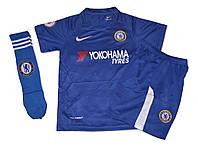 Футбольная форма 2017/18 Челси (Chelsea) детская + Гетры Челси