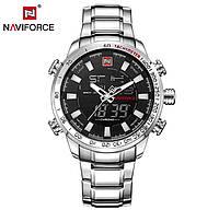 Мужские спортивные часы Naviforce Savonna (Silver) (№9093) по супер цене! Гарантия!