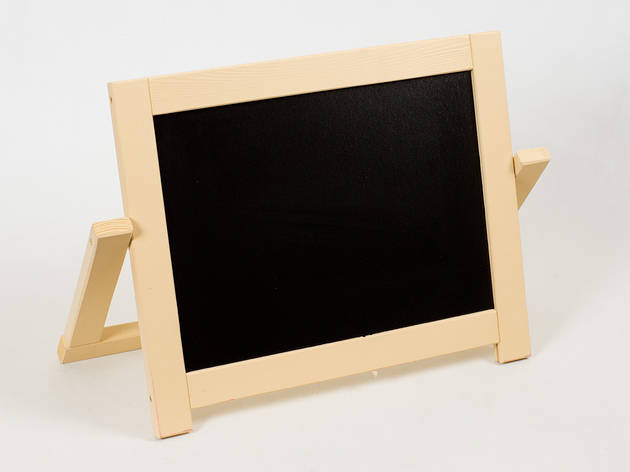 Детский маленький деревянный двухсторонний мольберт с магнитной доской 40х4х30 см, фото 2
