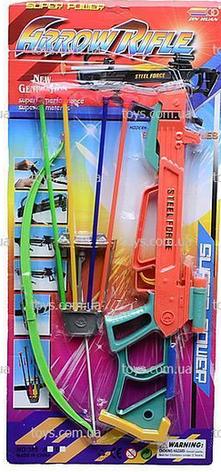 Арбалет игрушечный стрелы на присосках 4шт, на листе, фото 2