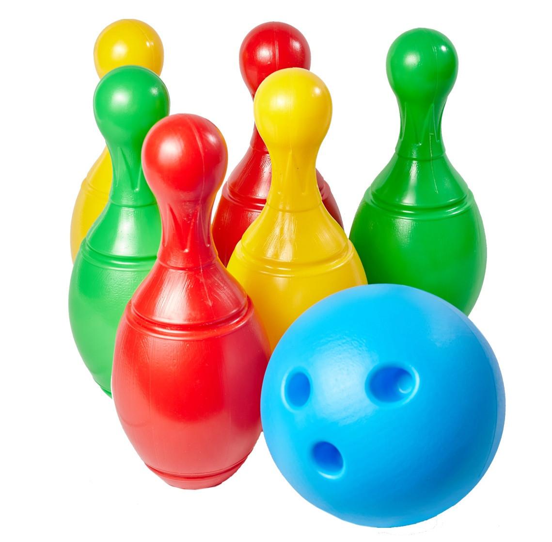 Набор для игры в боулинг (шар и 6 кеглей) Технок 2780