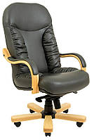 Кресло Буфорд Wood, подлокотник Люкс кожа Люкс комбинированная, подлокотники Люкс бук