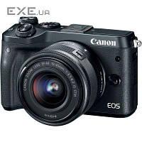 Цифровой фотоаппарат Canon EOS M6 15-45 IS STM Black Kit (1724C043AA) (1724C043)