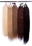 Накладної хвіст із слов'янських волосся 70 см, 150 грам. Колір #613 Блонд, фото 4