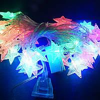 Гирлянда Звёздочки LED 40 мульти