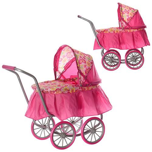 Коляска для куклы классика железная колеса 4шт MELOGO