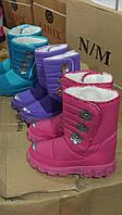 Детские зимние ботинки на липучку для девочек Размеры 32-36