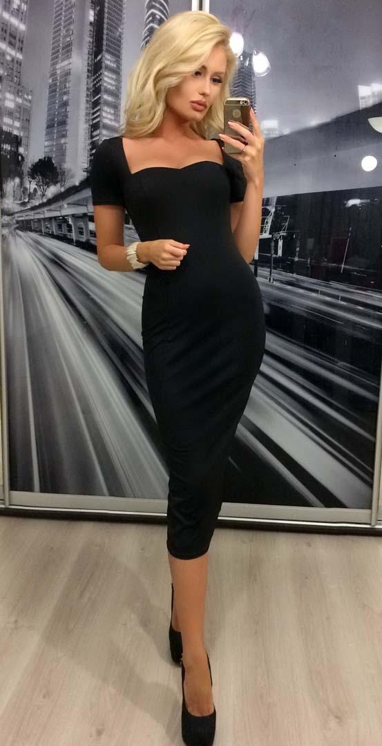 253620c7b80 Черное офисное платье - LADYFASHION в Одессе