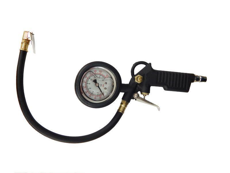 Пистолет для подкачки шин с индикатором(манометр заполнен глицирином)(штуцер тип USA)