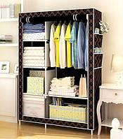 Тканевой шкаф органайзер для одежды HCX STORAGE WARDROBE №88, тканевой шкаф, складной шкаф, гардероб тканевой
