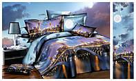 """3D Полуторное постельное белье комплект """"Ranforce"""" мосты"""