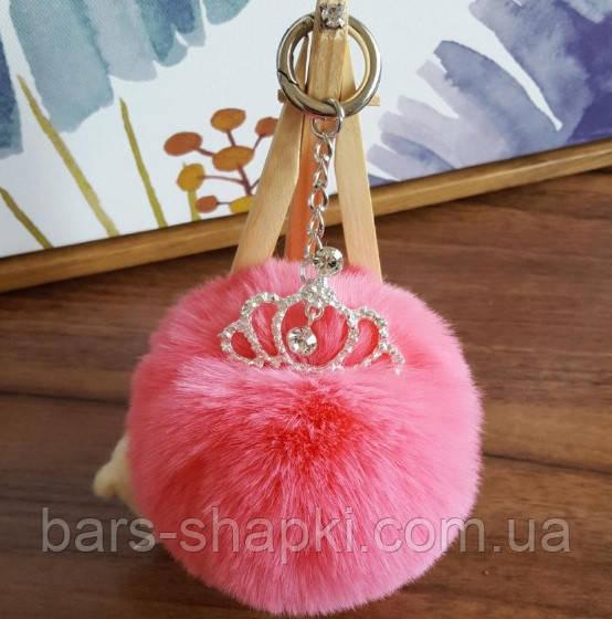 Шикарный брелок помпон с короной