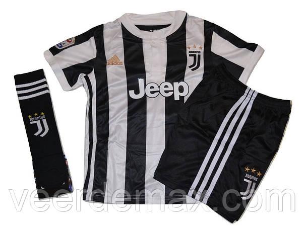 Новинка Футбольная форма Ювентус (FC Juventus) 2017 18 детская + Гетры  Ювентус 3d4d4172c8829
