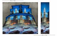 3D Двоспальне постільна білизна Ranforce (нічне місто)